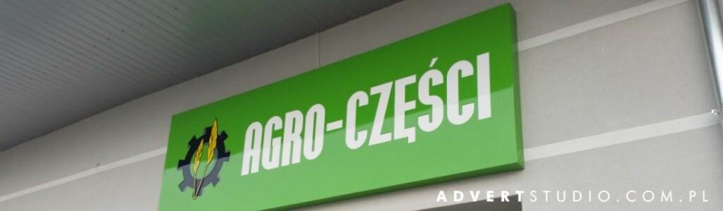 oznakowanie hurtowni Agro Czesci z Nysy -producent reklam advert opole