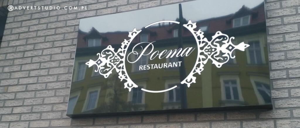 szyld restauracji Poema -Hotel Weneda- advert reklama