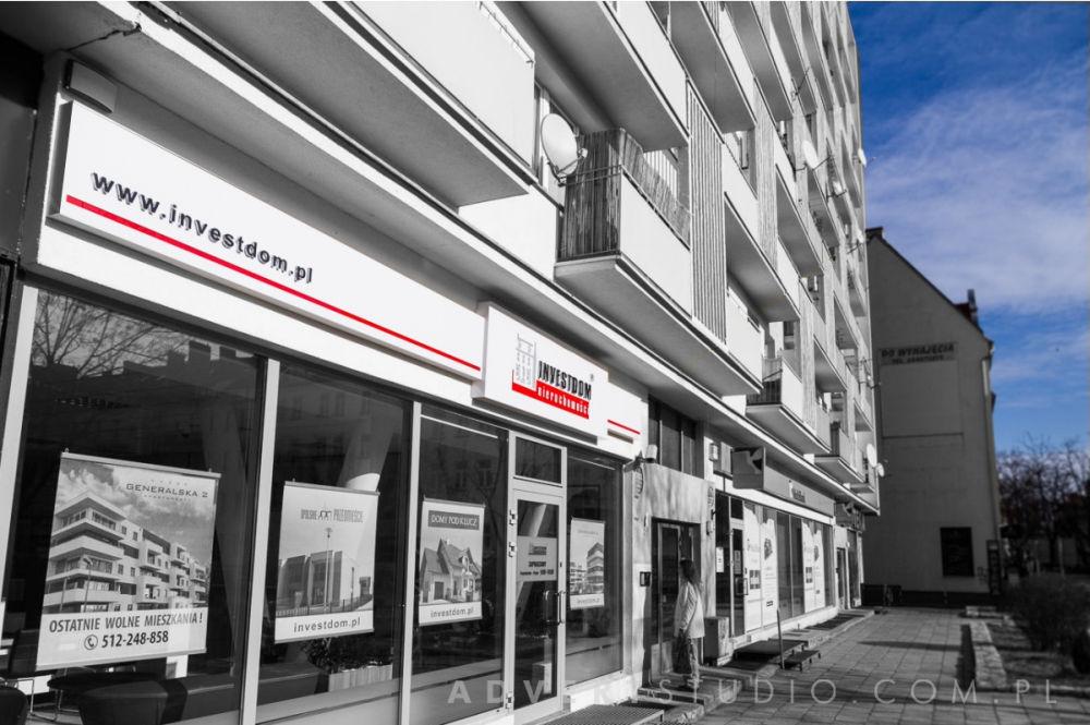 Kaseton swietlny - biuro nieruchomosci INVESTDOM- Advert Reklama Opole