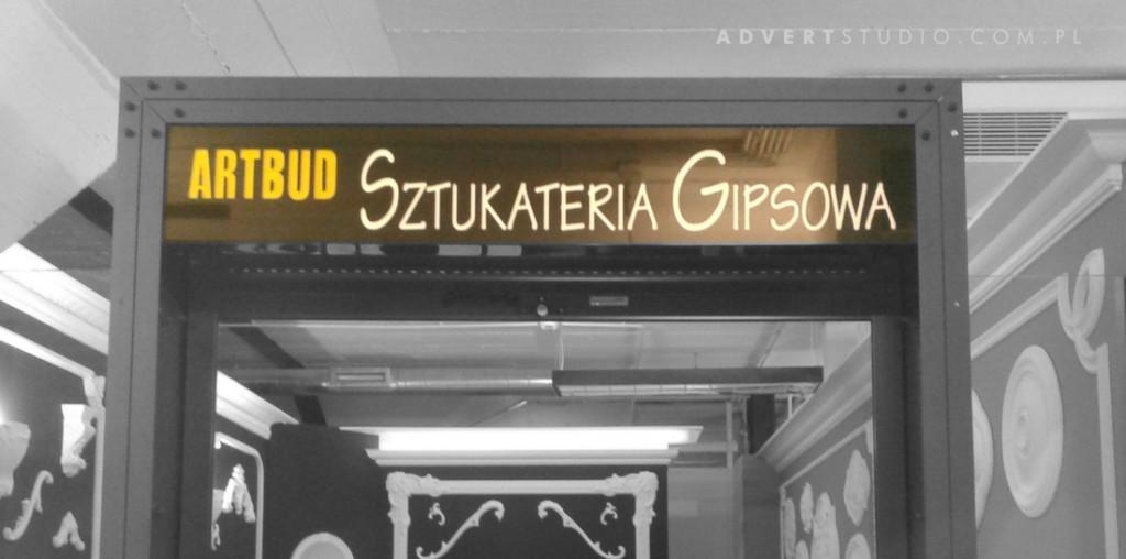 Reklama wizerunkowa ekspozycji ARTBUD Sztukateria w DomEXPO . Advert reklama