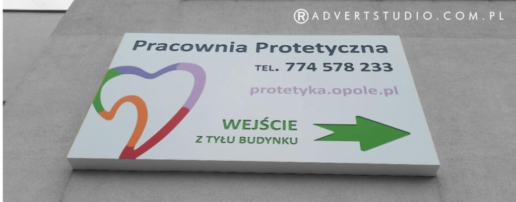 kaseton LED- szyld dla gabinetu protetycznego - advert reklama
