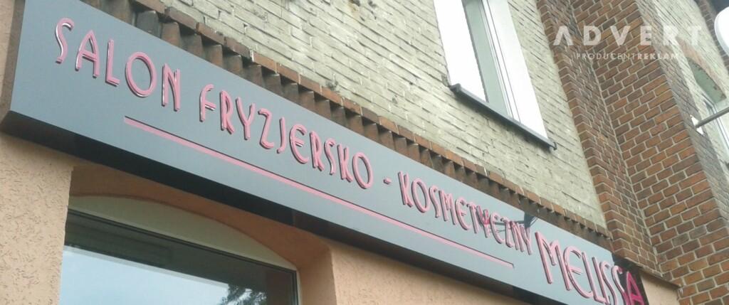 oznakowanie salonu fryzjerskiego-advert reklama