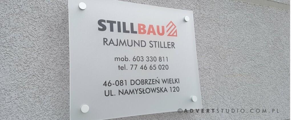 tabliczka przydrzwiowa Stillbau-reklama opole advert