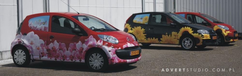 Oklejanie aut flotowych- Ruigrok Holandia- Advert Reklama