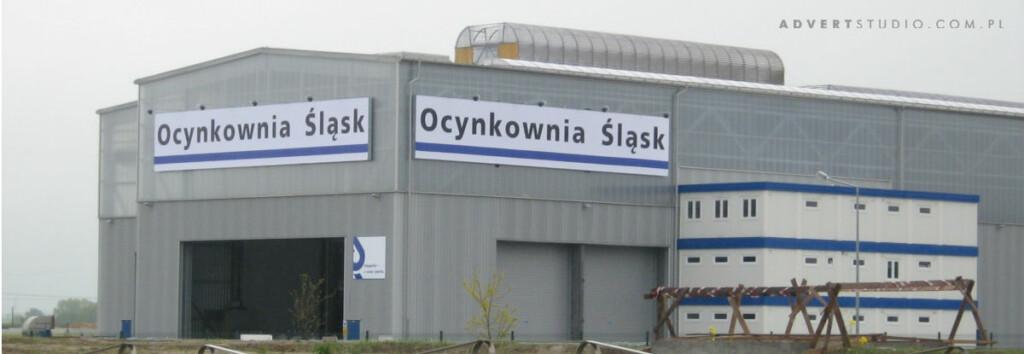 oznakowanie hali Ocynkownia slask Kluczbork -Advert Opole