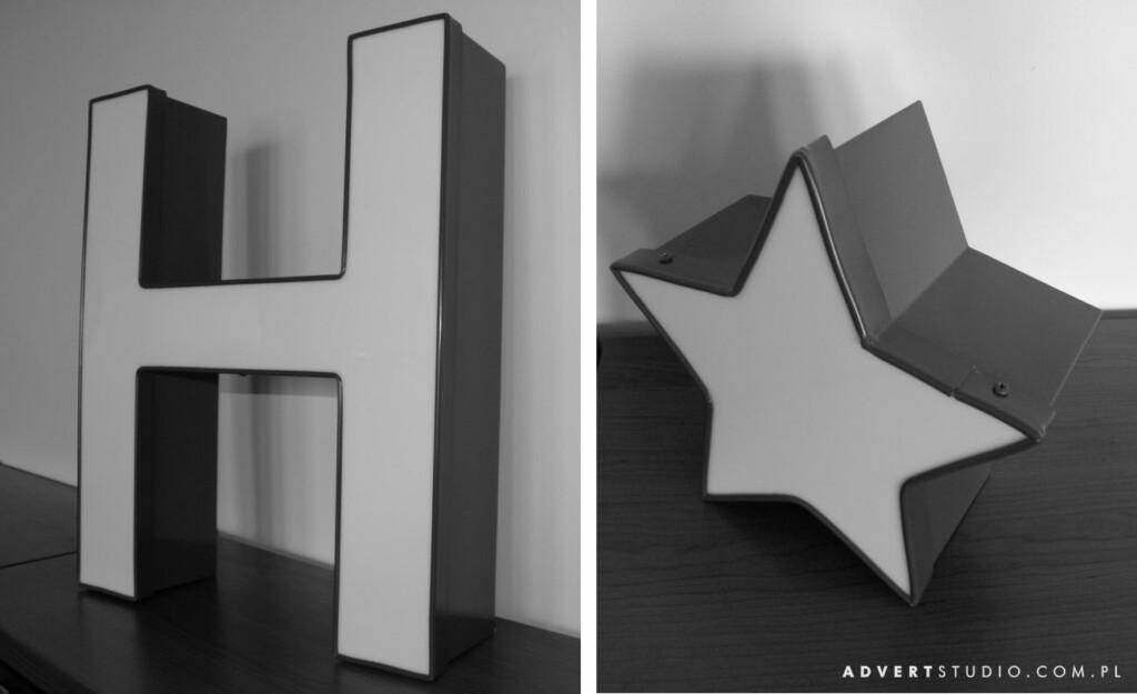 Litery aluminiowe Napisu Hotel Atrium-Advert