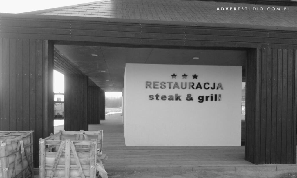 Litery przestrzenne styrodurowe Restauracja Hotel Atrium-Advert