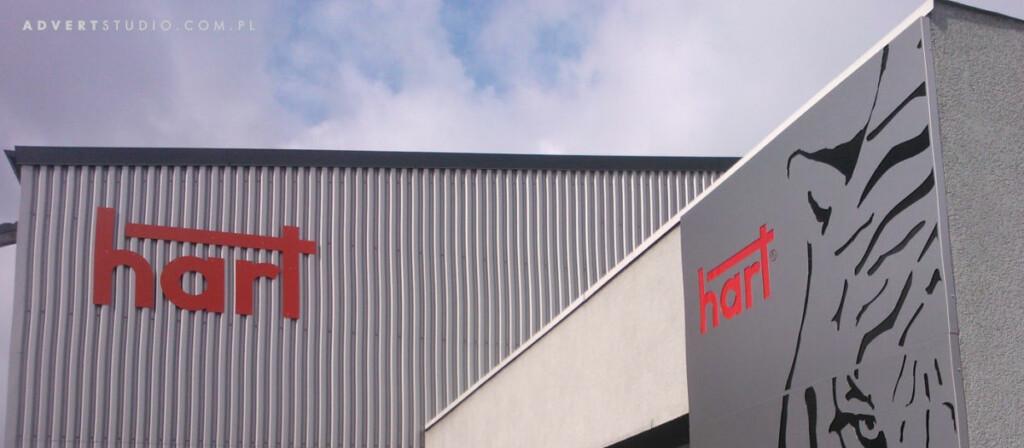litery na budynek -oznakowanie hali HART -kATOWICE- aDVERT oPOLE