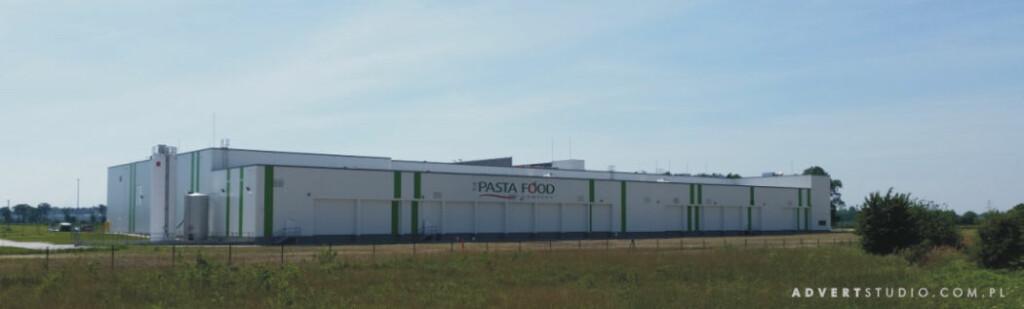 Oznakowanie hali Pasta Food w Opolu-Advert