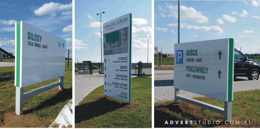 Totemy -pylony informacyjne - kierunkowe- Advert Reklama