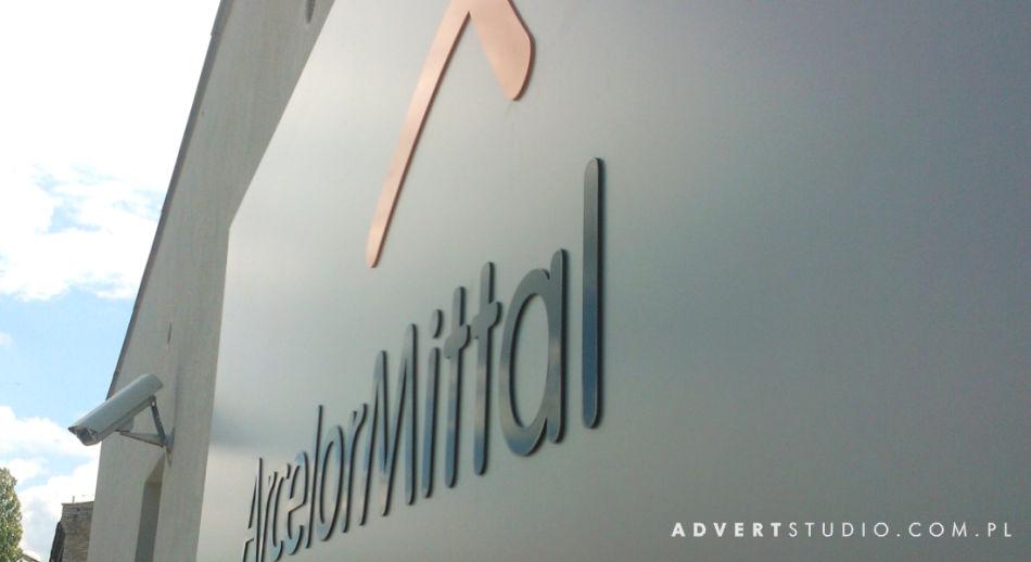 Arcellor Mittal-oznakowanie oddzialu w Opolu advert