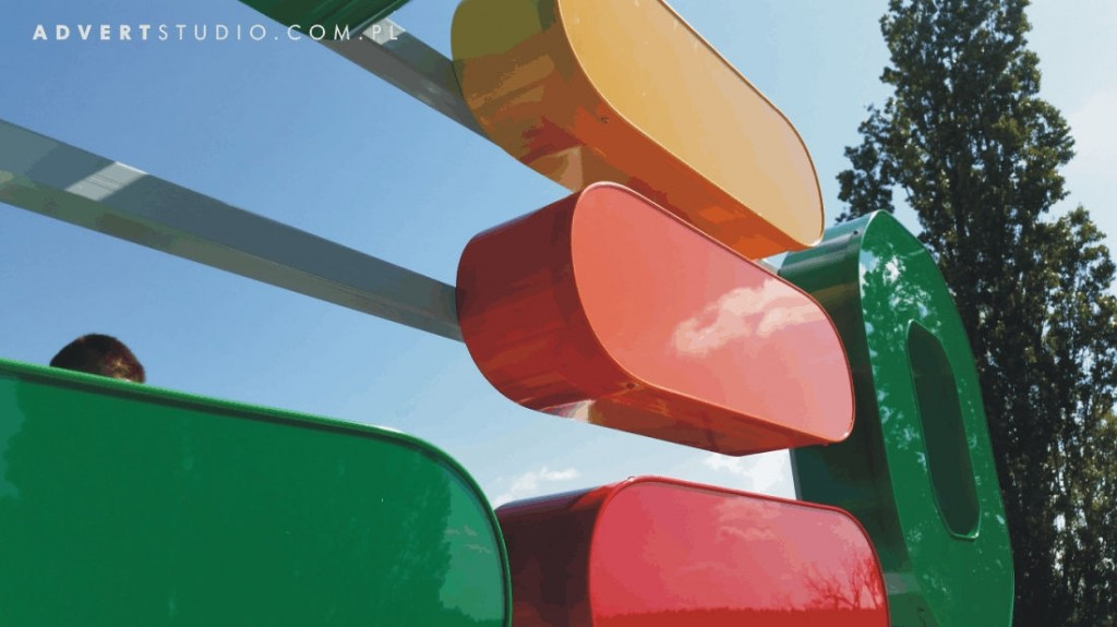 Litery aluminiowe na konstrukcji na dachowej- OCEO -Advert Reklama Opole