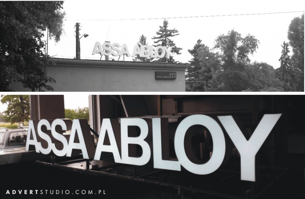 Mercor Assa Abloy-Oznakowanie oddzialu reklama wizualna -producent reklamAdvert OPole