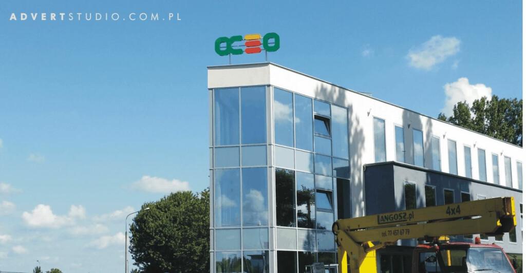 Oznakowanie Opolskiego Centrum Energii Odnawialnej -producent reklam -litery swietlne Advert Reklama