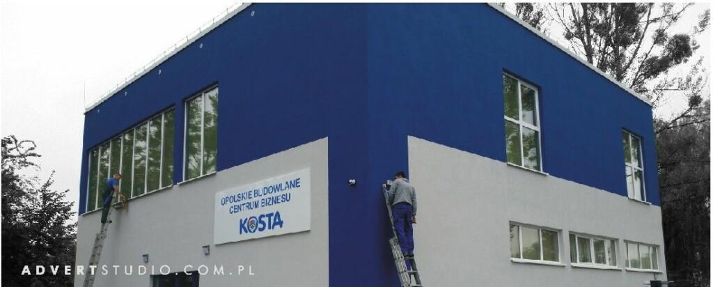 oZNAKOWANIE OPOLSKIEGO budowlanego Centrum Biznesu- Advert producent reklam