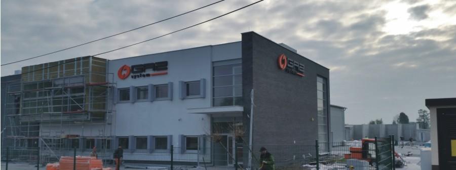 oznakowanie budynku Gaz System - reklama Advert Opole