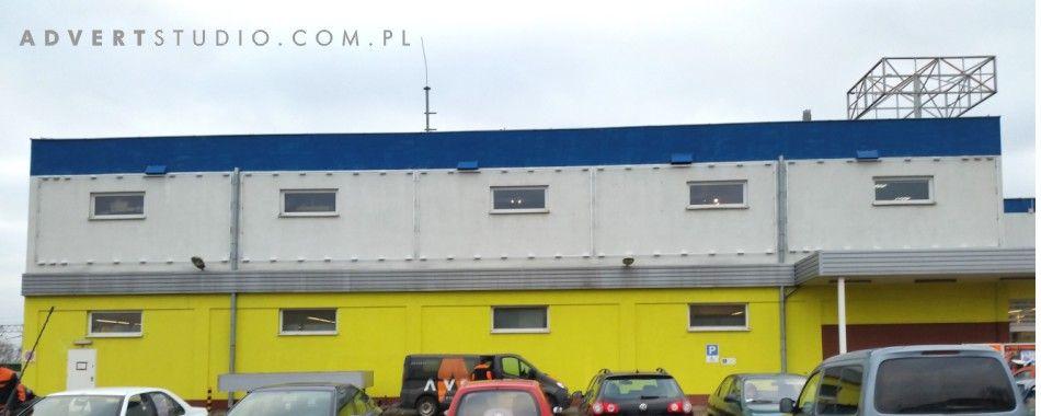 OZNAKOWANIE CENTRUM MEBLI BRW Opole- naciagi winylowe- advert reklama opole