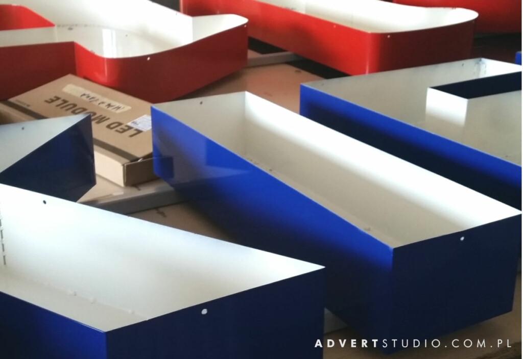 advert reklama - litery aluminiowe