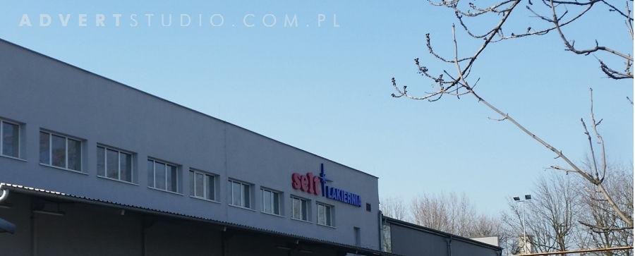 oznakowanie obiektu lakierni firmy SELT-advert reklama opole