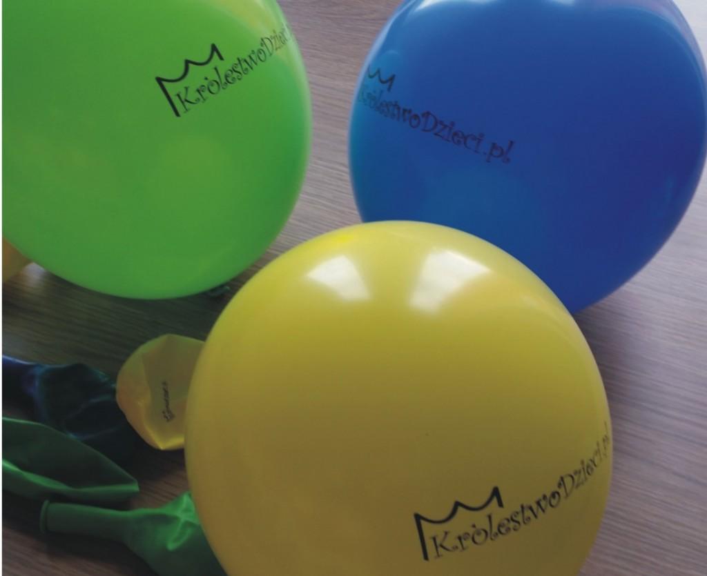 balony z nadrukiem logo - advert reklama