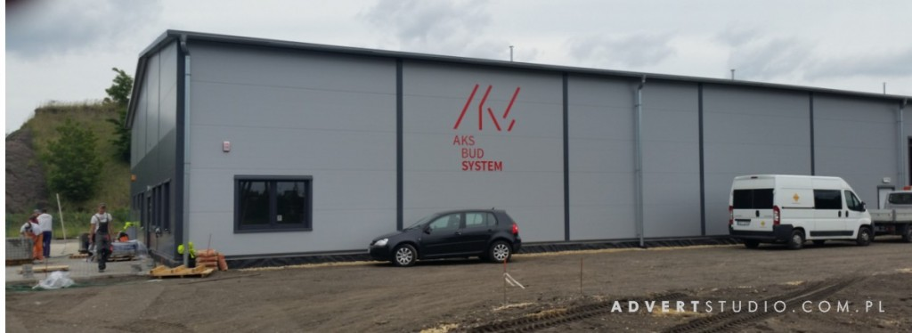 oznakowanie hali -litery z dibondu - Aks Bud System - Advert reklama