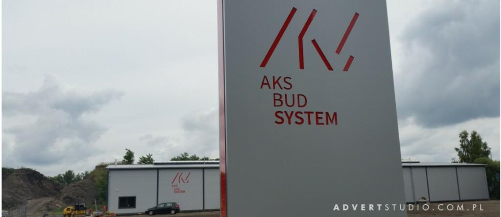 pylon wjazdowy na teren przy zakladowy - advert reklama