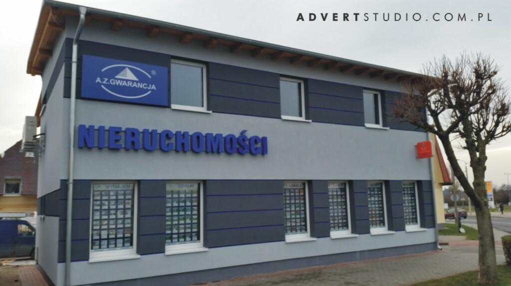 Litery energo oszczedne na budynku AZ GwArancja - advert producent reklam