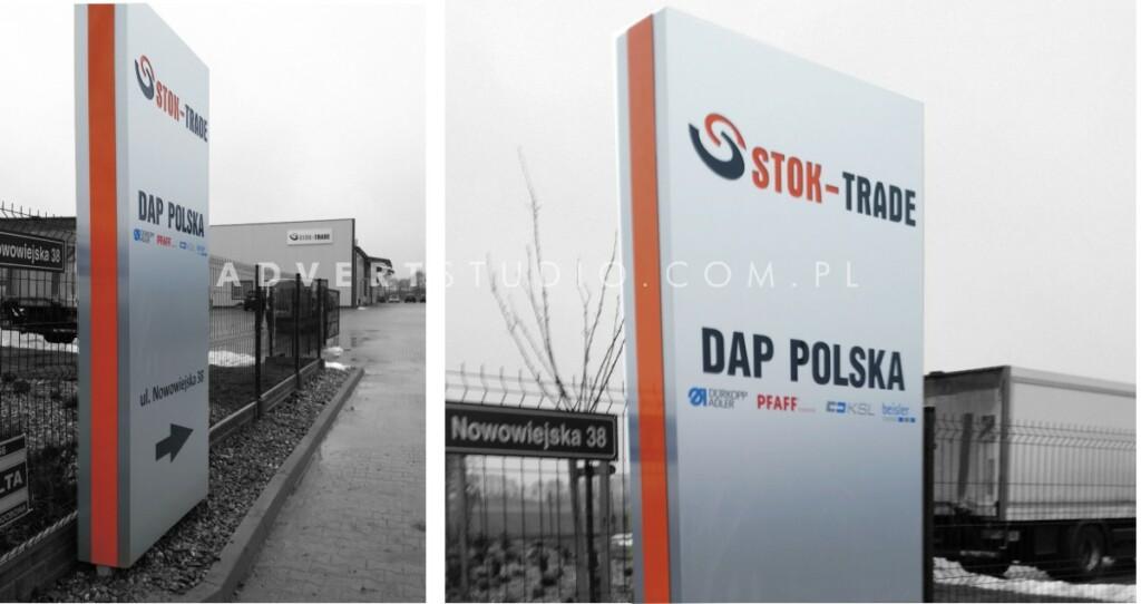 pylon kierunkowy DAP POLSKA - STOK TRADE - advert producent reklam