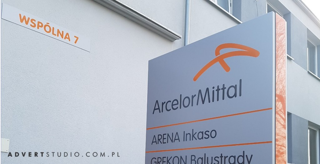 pylon arcelor mittal advert reklama