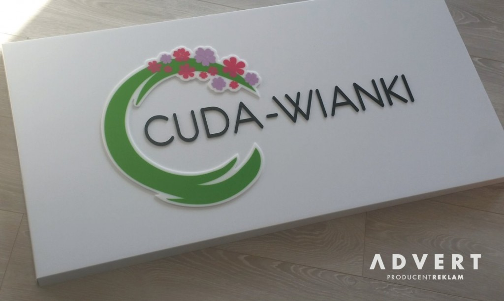 Tablica z logo do kwiaciarni -advert reklama