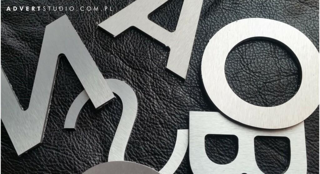 litery logo do biura - napisy do firmy -producent reklam advert opole