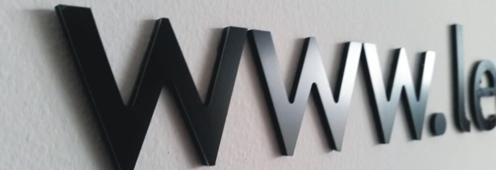 litery z dibondu- logo do biura - advert reklama opole