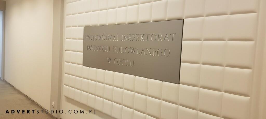 tablica z drapenego aluminium 0advert reklama