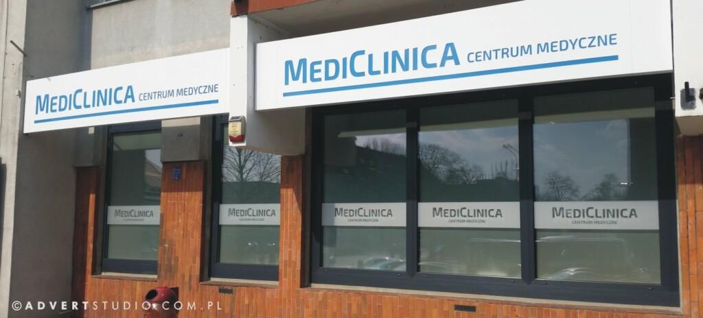 Reklama zewnetrzna MediClinica centrum medyczne- produkcja reklam led -advert reklama opole