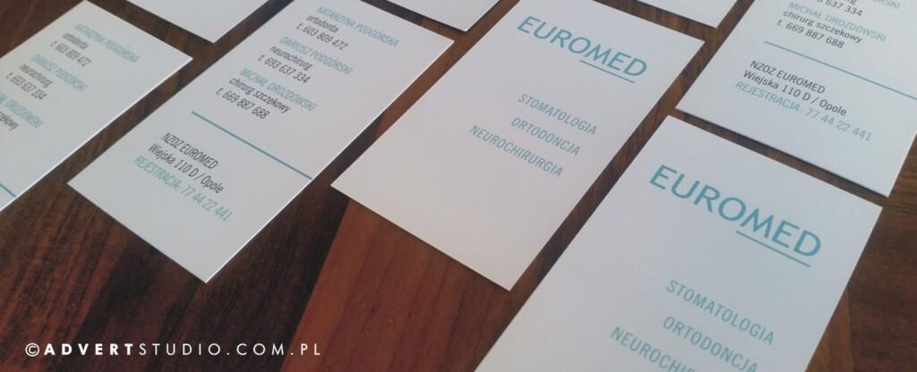 identyfikacja wizualna stomatologii Euromed - advert reklama opole