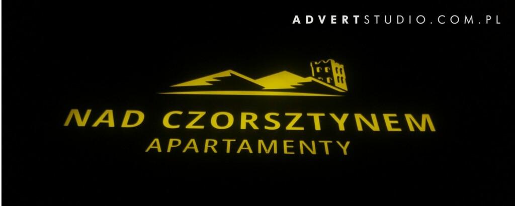 SZYLD REKLAMOWY APARTAMENTY NAD CZORSZTYNEM ADVERT