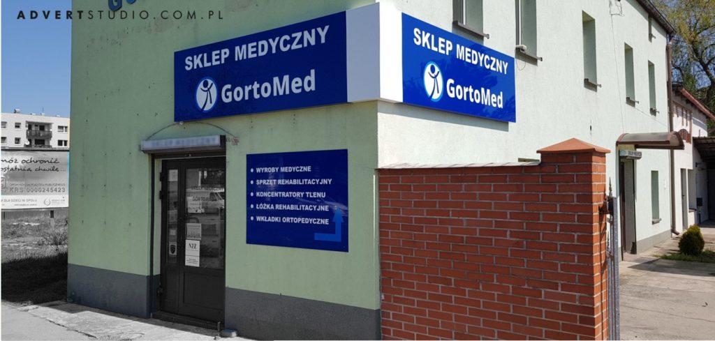 oznakowanie sklepu medycznego advert