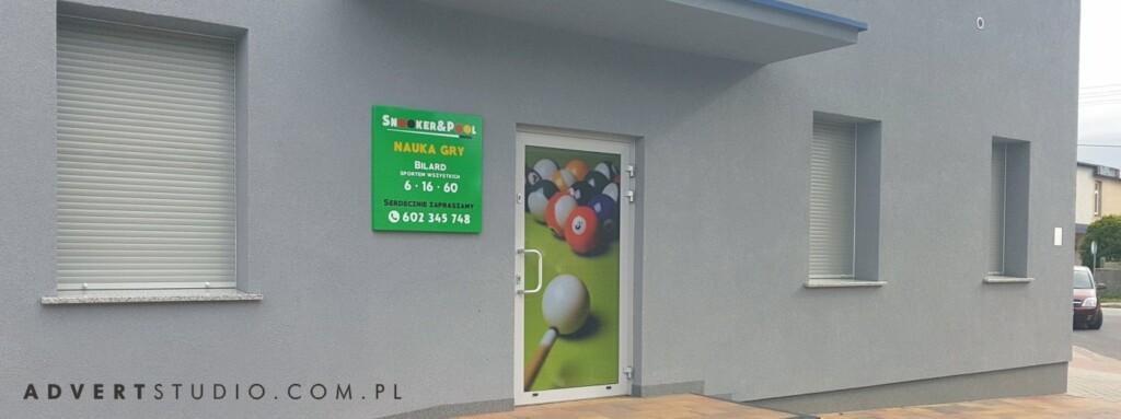 oznakowanie snooker klubu advert