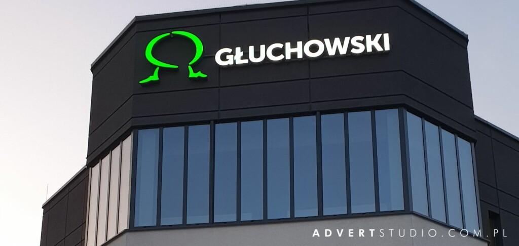 litery aluminiowe LED Gluchowski