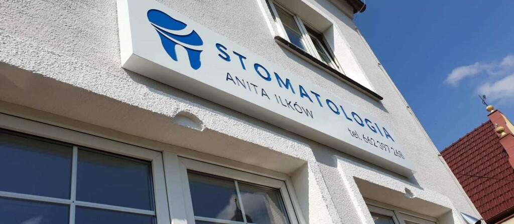szyld stomatologii Ilkow
