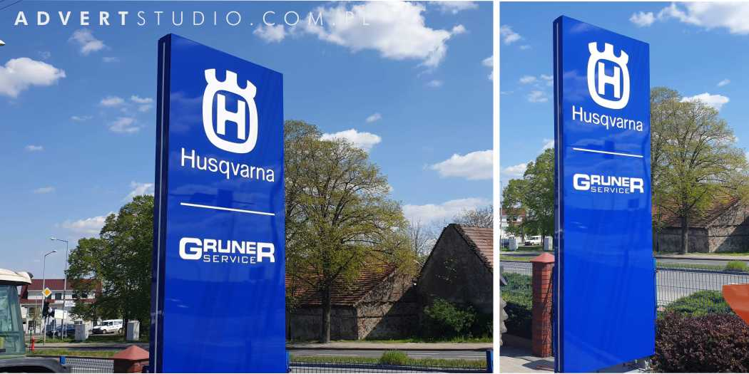 pylony reklamowe od producenta Advert Studio z Opola