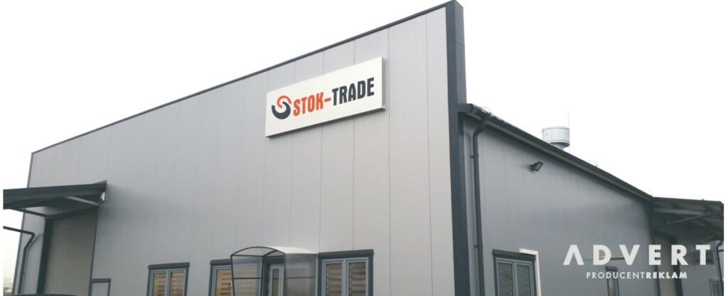 oznakowanie hali STOK-TRADE Wroclaw - reklama advert