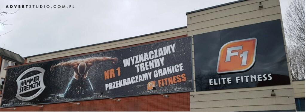 oznakowanie silowni f1 - advert reklama