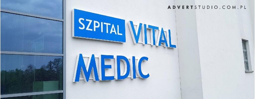 #oznakowanie szpitala #literyLED #advert