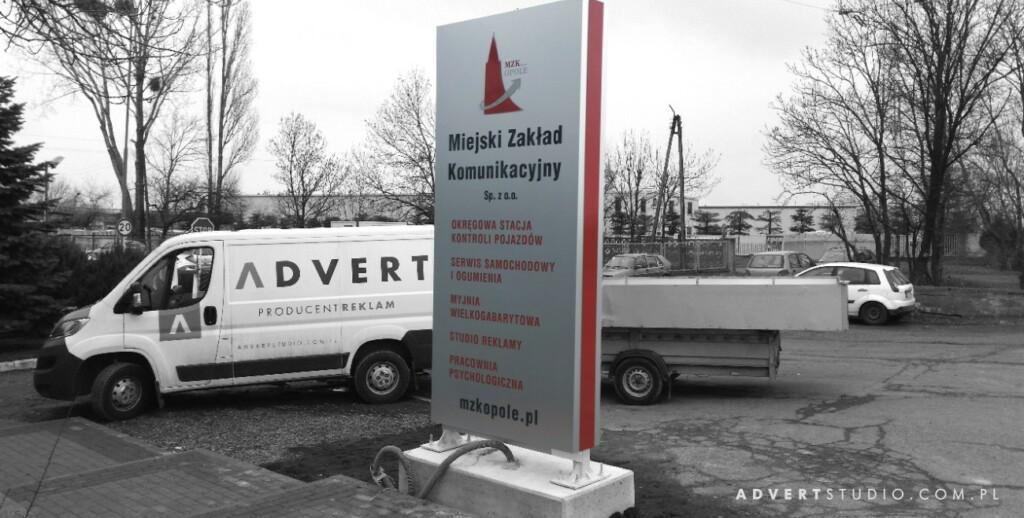 pylon wjazdowy MZK - ADVERT PRODUCENT PYLONOW