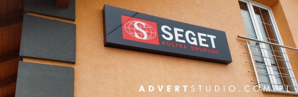 kasetony podswietlane LED - advert reklama