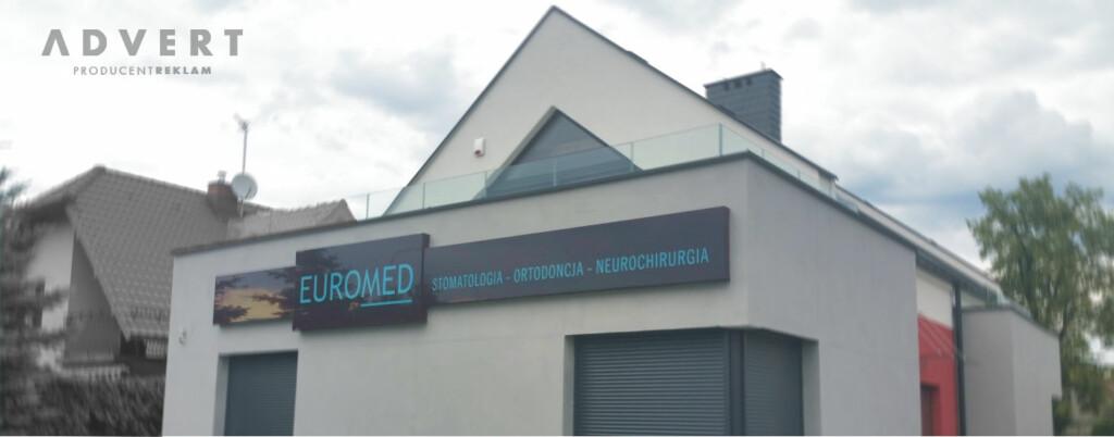 oznakowanie kliniki stomatologii i ortodoncji - producent reklam Advert