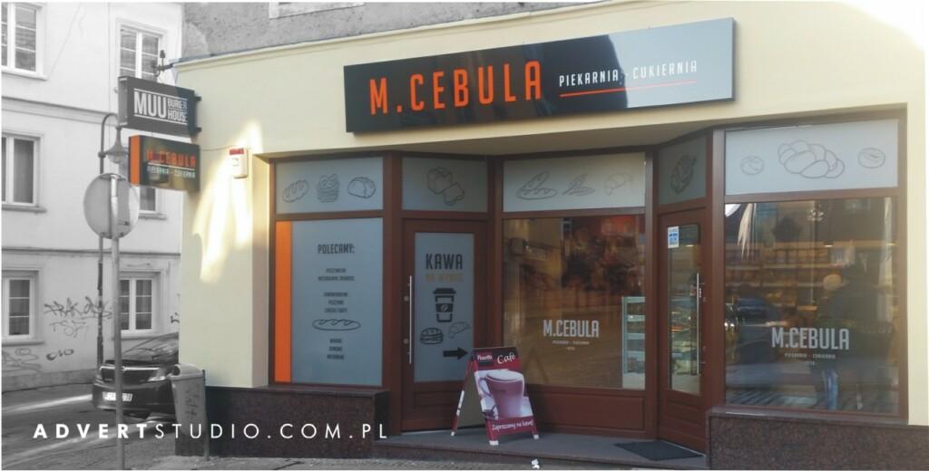 reklamy wizualne dla piekarnii Cebula - advert reklama Opole