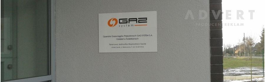 Gaz System - system identyfikacji wizualnej - budynek Opole - advert reklama