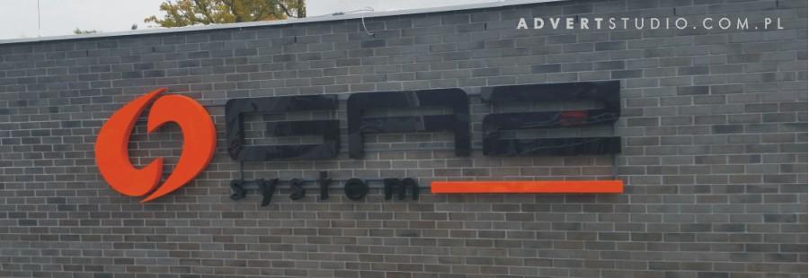 litery podswietlane montowane na elewacji z cegly Roben. Advert producent reklama Opole